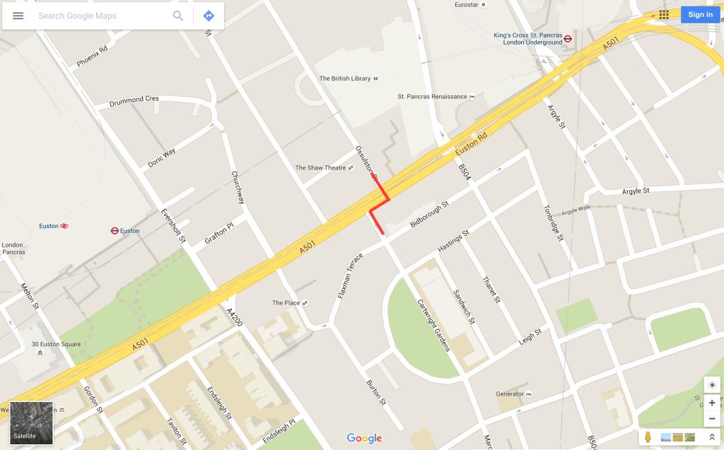 Euston Road cut through