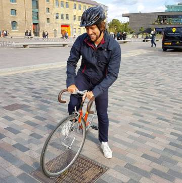 Vulpine Men's Harrington Jacket worn by Andreas near Kings Cross