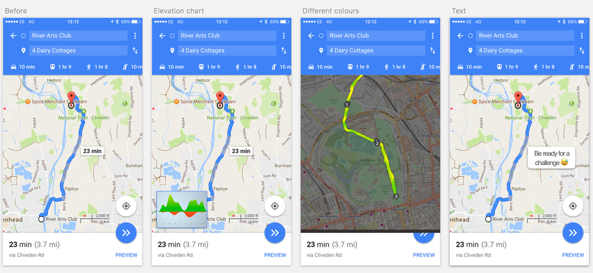 Additions To Make Google Maps Perfect For Cyclists - How to determine elevation on google maps