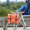 Photograph of Hills & Ellis orange satchel bike bag