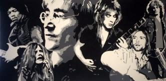 The Legends Hendrix, Lennon, Joplin, Rhoades, Cobain & Morrison