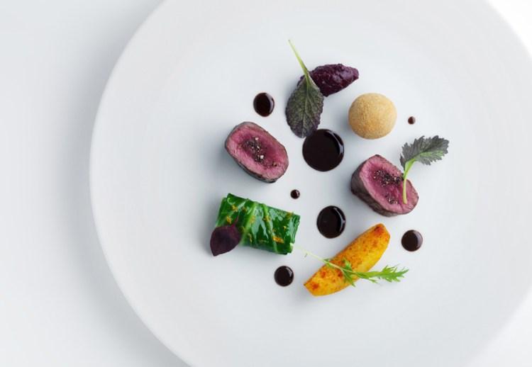 Modern sous vide plating Molecular cuisines