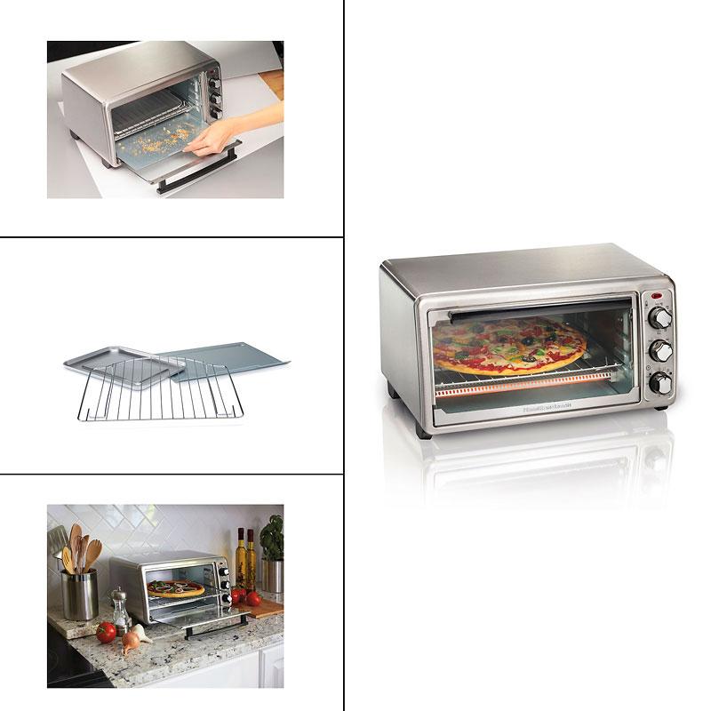 hamilton beach 6 slice toaster oven stainless steel 31411