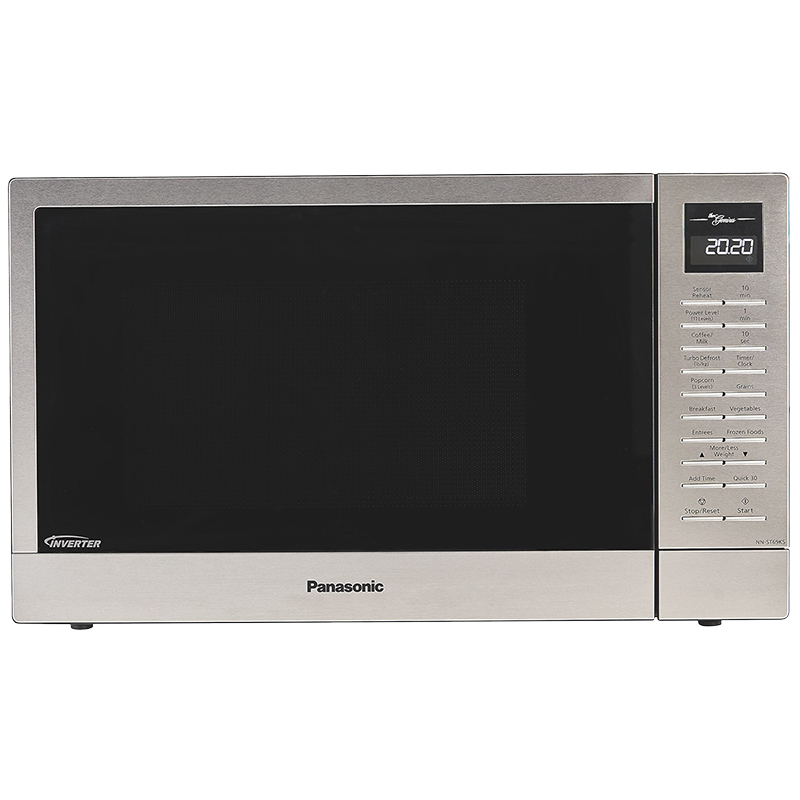 panasonic 1 1 cu ft compact microwave oven stainless nngt69ks