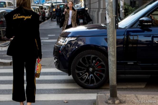 Street Style Dolce Gabbana Milan Fashion Week FW17