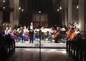Marc Corbett-Weaver introduces the concert