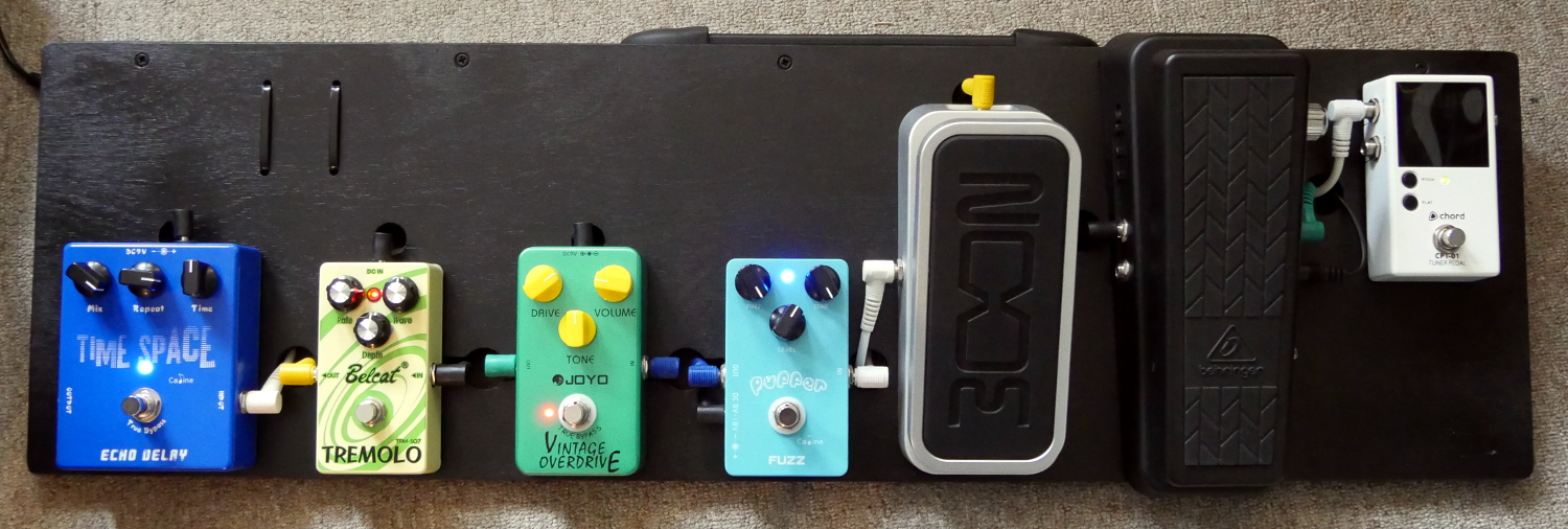 low cost pedal board