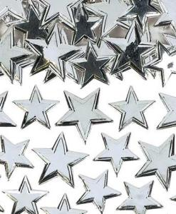 Irridiscent Silver Star Sprinkles