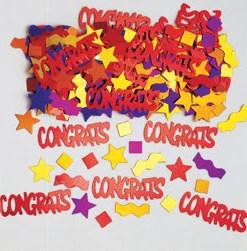 Metallic Multi Congratulations Table Confetti