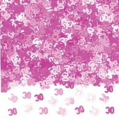 Pink Shimmer 30th Birthday Table Confetti