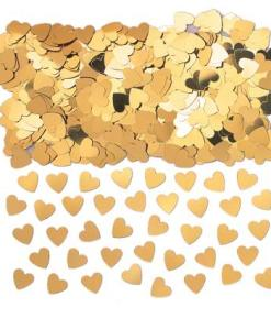 Sparkle Hearts Gold Table Confetti