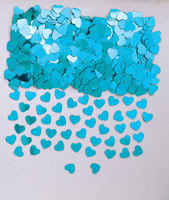 Sparkle Hearts Teal Table Confetti