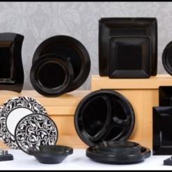 Black Tableware