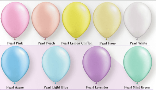 Light pearl balloons for helium filled balloon bouquets