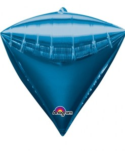 "3 Diamondz Blue 17"" Helium Filled Foil Balloons"