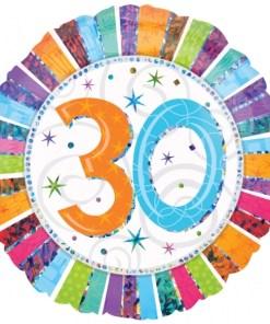 "Radiant Birthday 30th Birthday 18"" Helium Filled Foil Balloon"