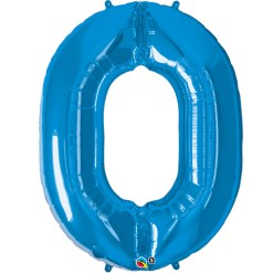 Blue Helium Inflated Number Balloons