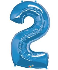 Blue foil 2 balloon.