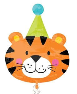 Circus Tiger Supershape Helium Filled Foil Balloon