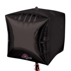 "3 Black 15"" Helium Filled Cubez Foil Balloons"
