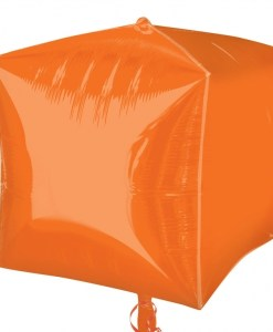 "3 Orange 15"" Helium Filled Cubez Foil Balloons"