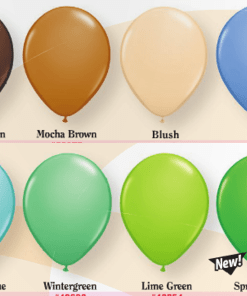 Fashion helium balloon colours