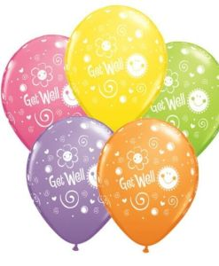 Get Well Latex Balloons