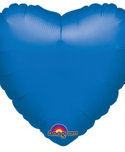 Metallic blue heart Helium Filled Foil Balloon