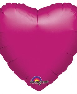 helium filled fuchsia heart foil balloon order online for london delivery