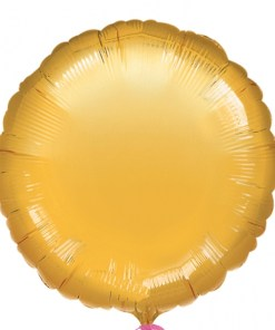 Metallic Gold Helium Filled Foil Balloon