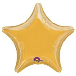 Metallic Gold star Helium Filled Foil Balloon