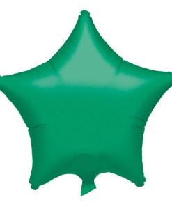 Metallic Green Star Helium Filled Foil Balloon