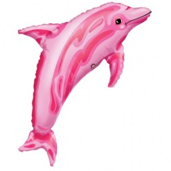 Pink dolphin Supershape Helium Filled Foil Balloon