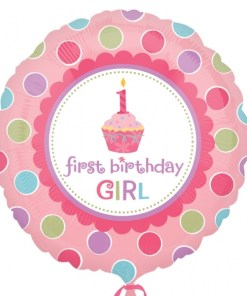 Helium filled sweet little cupcake girl Foil Balloon
