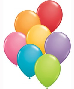 Fashion Coloured Helium Filled Latex Balloons