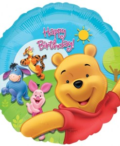 Pooh and friends sunny birthday Helium Filled Foil Balloon