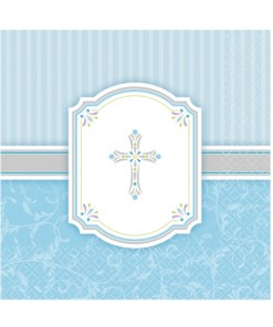Blessings Blue Luncheon Napkins (16)