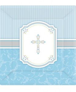Blessings Blue Square Plates (8)