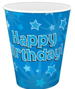 Oaktree Blue Happy Birthday Cups (8)