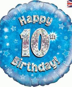 Oaktree Blue 10th Birthday Helium Balloon at London Helium Balloons