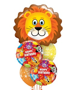 Birthday Lion Bouquets at London Helium Balloons