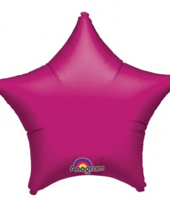 Personalised photo printed Hot pink Foil star Balloon