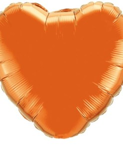 Personalised photo printed Orange Foil Heart Balloon