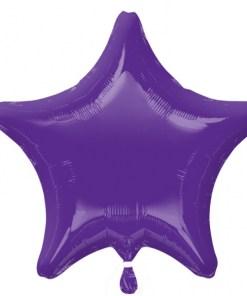 Personalised photo printed Purple Foil Star Balloon