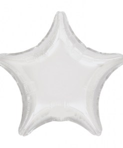 Personalised photo printed White Foil Star Balloon