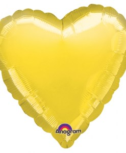 Personalised photo printed Yellow Foil Heart Balloon