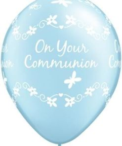 """10 Communion Blue Helium Filled 11""""latex Party Party Balloons"""