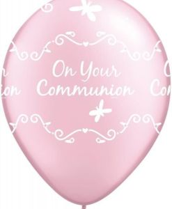 "10 Communion Pink Helium Filled 11""latex Party Party Balloons"