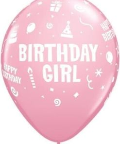 "10 Birthday Girl Helium Filled 11""latex Party Party Balloons"