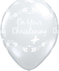"10 Clear Christening Butterfly Helium Filled 11""latex Party Party Balloons"